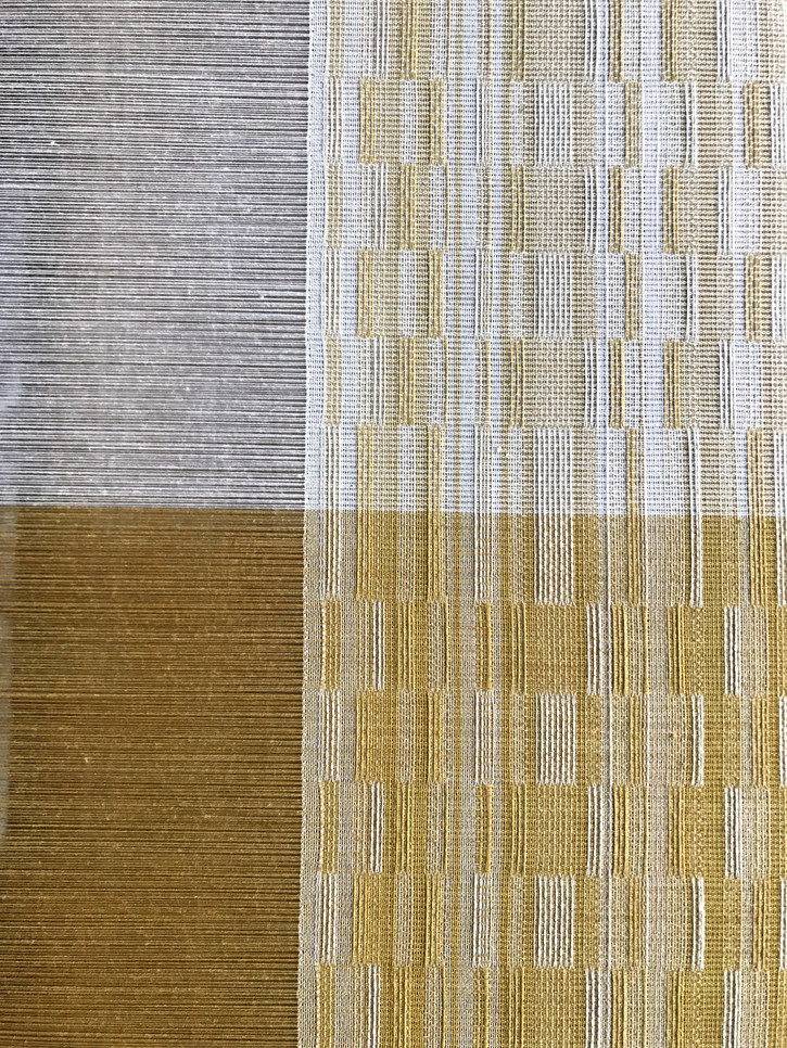 Organic cotton dyed with marigold and osage, as warp and weft, summer/winter variant