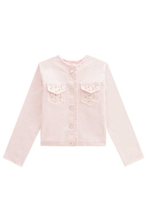 Jaqueta de Brim Rosa