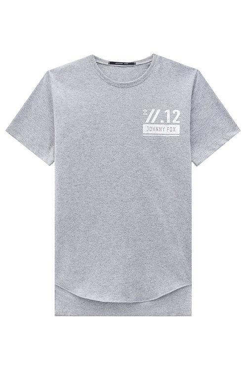 Blusa Cinza Logo Prata