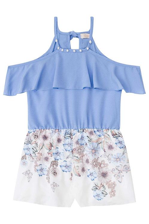 Macaquinho Flores Azul