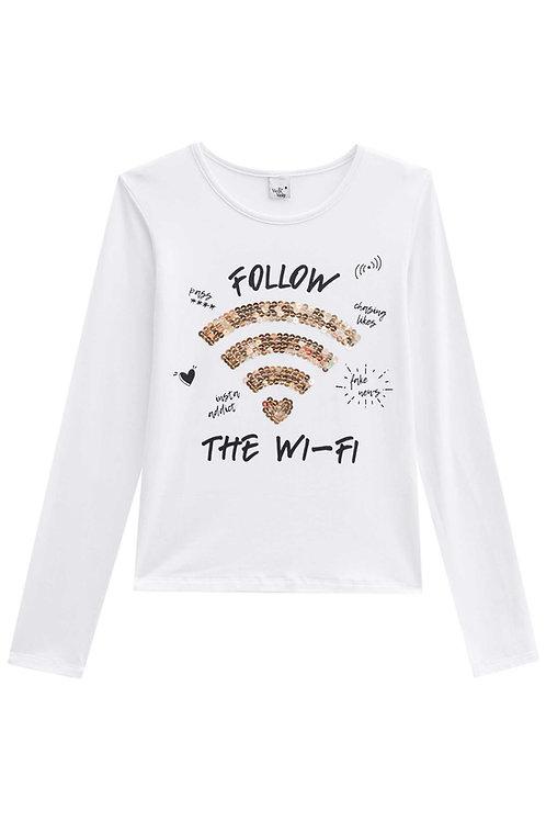 Blusa de Malha Wi-Fi