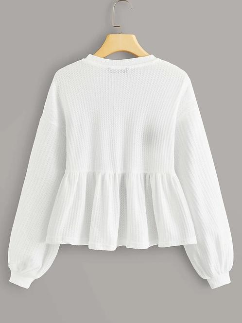 Blusa Peplum Branca