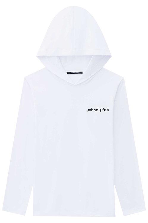 Blusa Capuz Manga Longa Branca