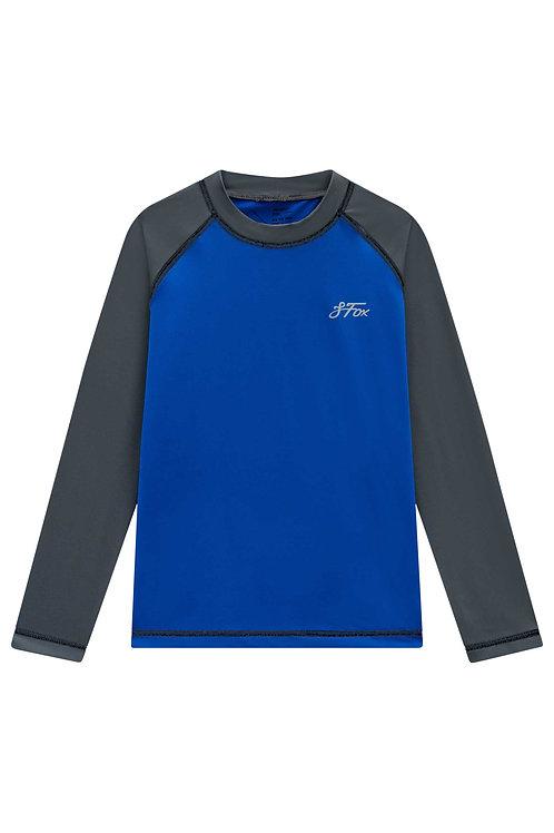 Blusa UV+ 50 Azul e Cinza