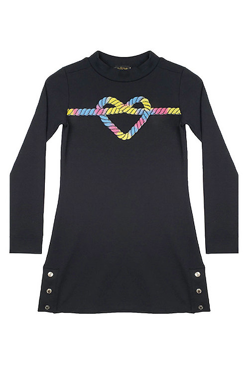 Vestido Manga Longa Coração