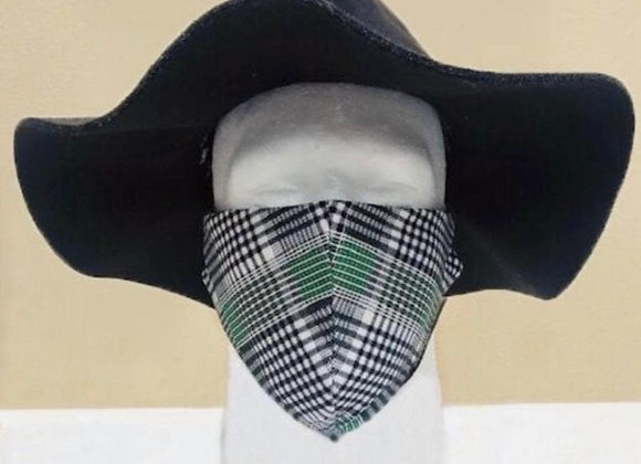 Green Plaid Face Mask - Item#JM02PL