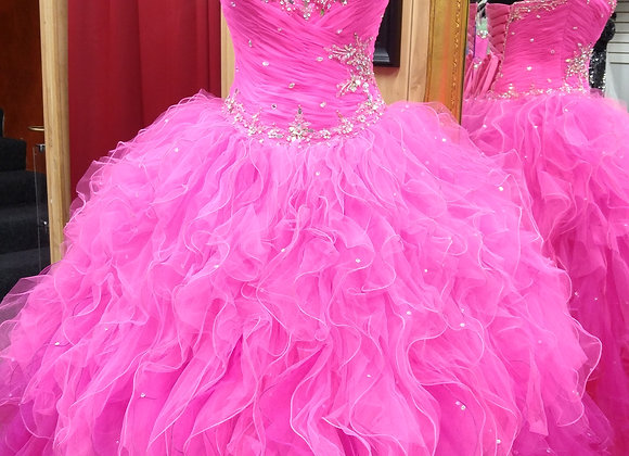 Fucia Quinceanera Dress