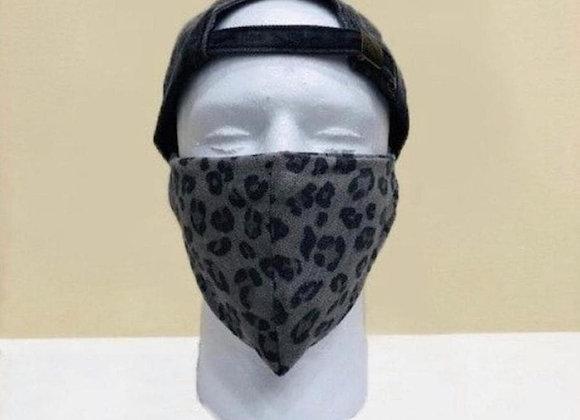 Grey Cheetah Face Mask - Item#JMO2A3