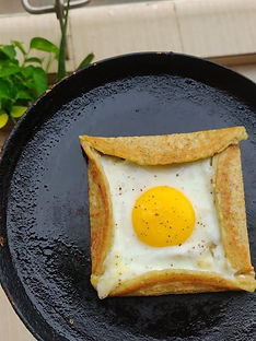 Egg Pesarattu - Green gram Dosa