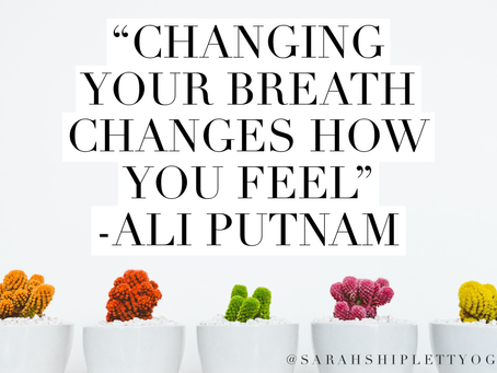 """Change your breath, change how you feel"""