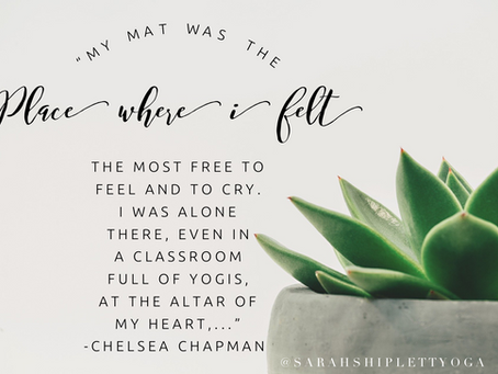 Beyond the Physical Practice of Yoga, guest post by Chelsea Chapman