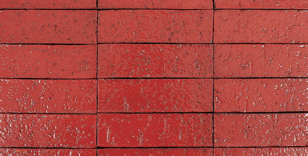 2x8 Glazed Brick Apple Valley Red