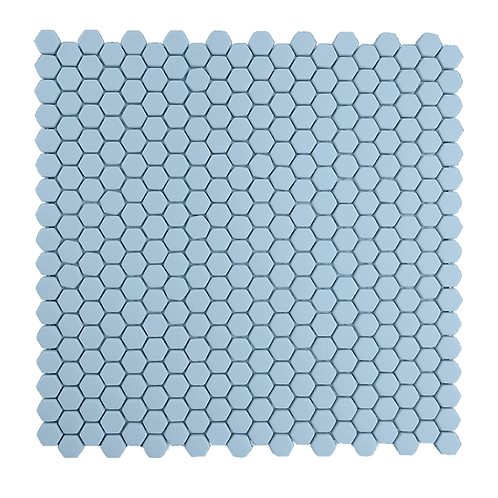 Mini Hexagon in Powder Blue
