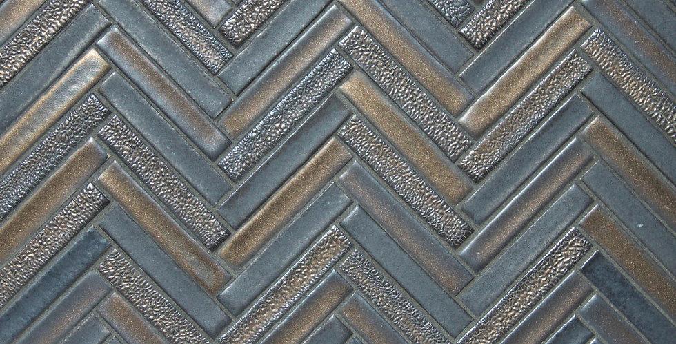 1/2 x 3 Herringbone Mosaic