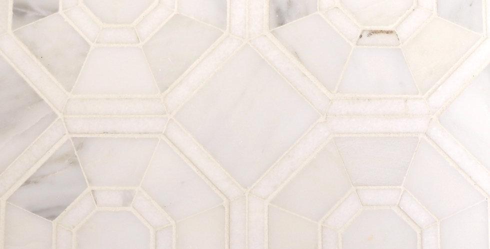Wilshire 2: White Thassos, White Statuary Calacatta
