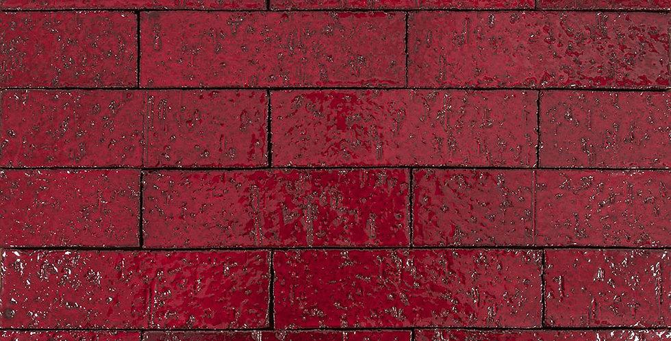 2x8 Glazed Brick Cadmium Red 202c