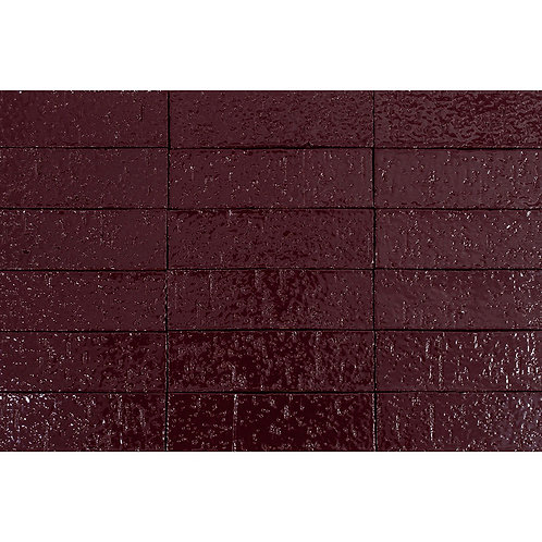 2x8 Glazed Brick Plum 5115c