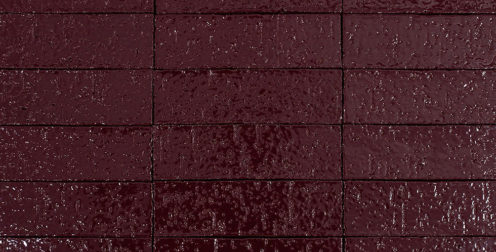 2x8 Glazed Brick Plum 5115c