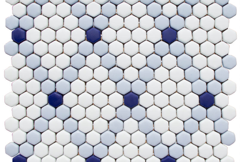 Rhombus in White, Powder Blue,
