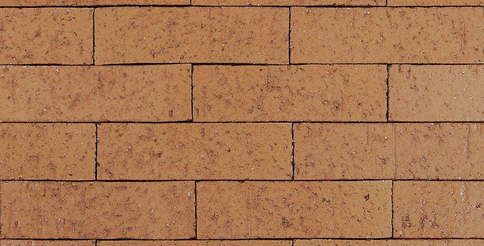 2x8 Glazed Brick Red Iron