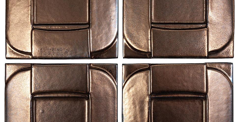 6x6 Ceramic Buckle Bronze
