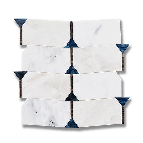Essence Harmony Sapphire Calacatta w/ Sapphire & Mocha Art Glass