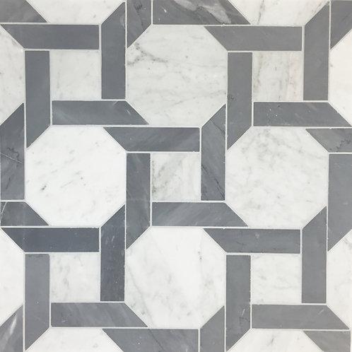 Cambridge 1: White Carrara Venatino