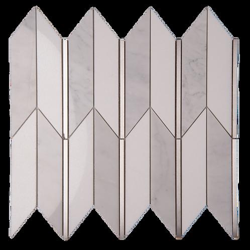 Arrows (Thassos, Italian Carrara, Stainless Steel)