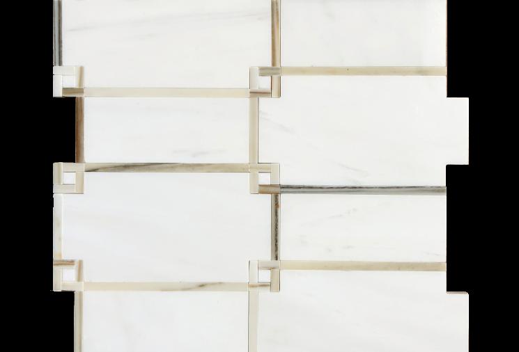 Geometric (Bianco Dolomiti, Oro Striato, Thassos)