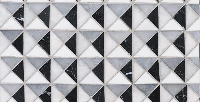 Black, Glacier, Allure, Snow White Multi Finish Devon Marble Mosaics