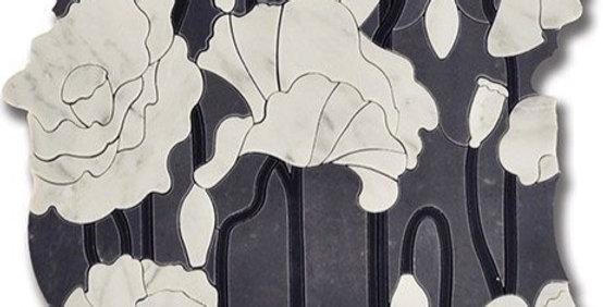 Sublime Bouquet Bardiglio w/ Carrara Bella & Mongolian Black