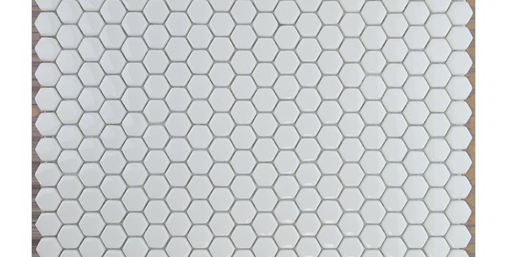 Mini Hexagon in White