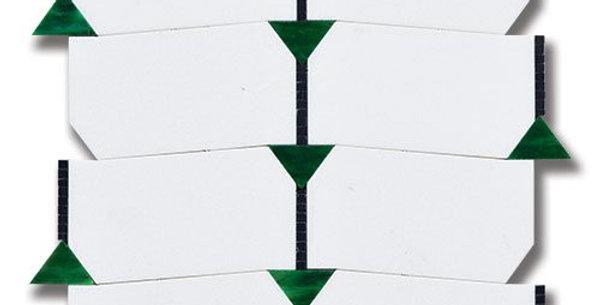 Essence Harmony Emerald Thassos with Tulip Black and Emerald Artglass