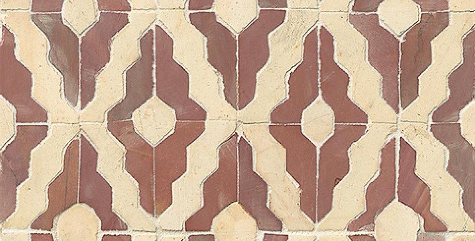 Rooi Shark Tooth Serge Mosaic
