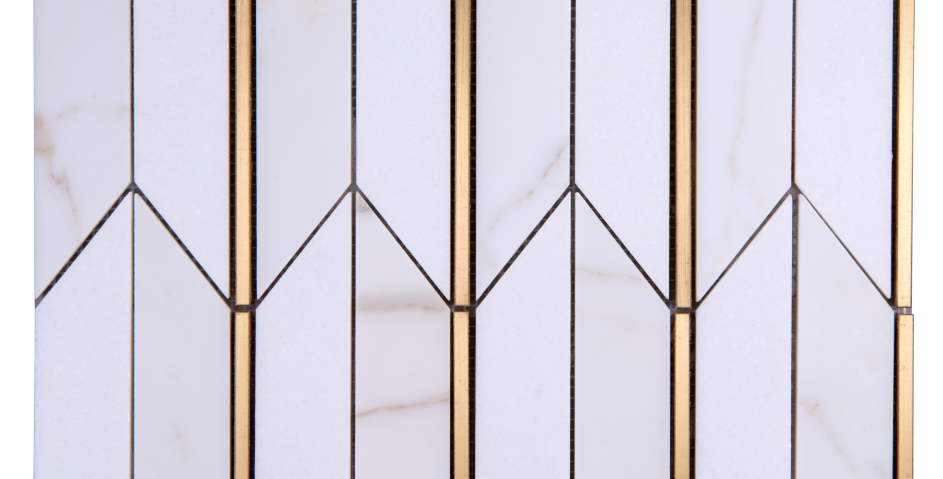 Arrows (Calacatta Gold,Thassos, Brass)