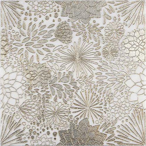 Dahlia Gold (Ashen White Marble)