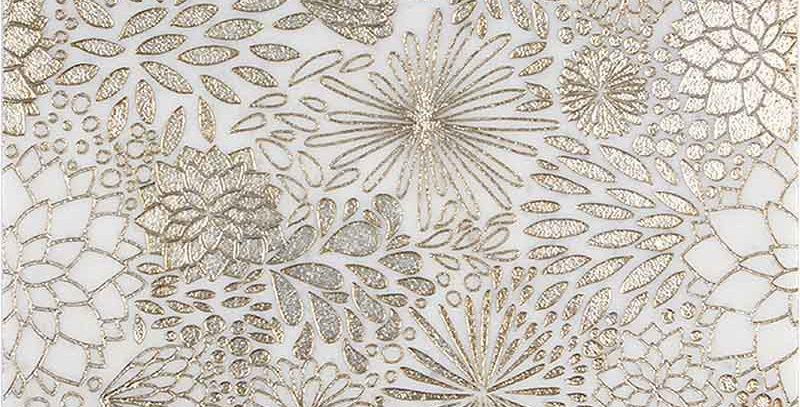 Dahlia Gold (Ashen White Marble)