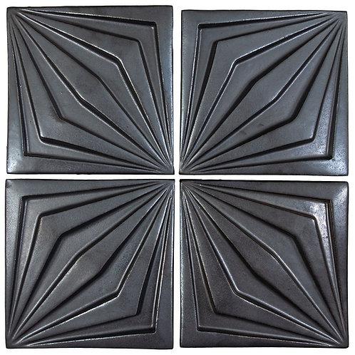 6x6 Ceramic Compass Star Graphite