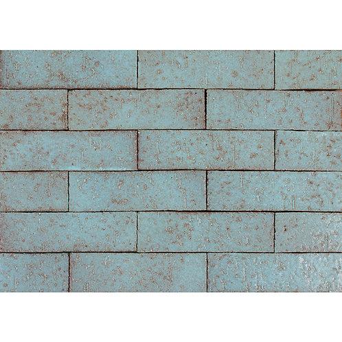 2x8 Glazed Brick Turquoise
