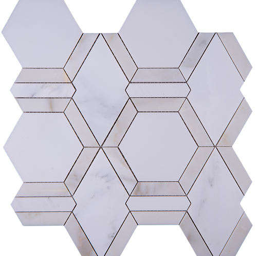 Metro Hex (East White, Asian Carrara, Calacatta Gold)