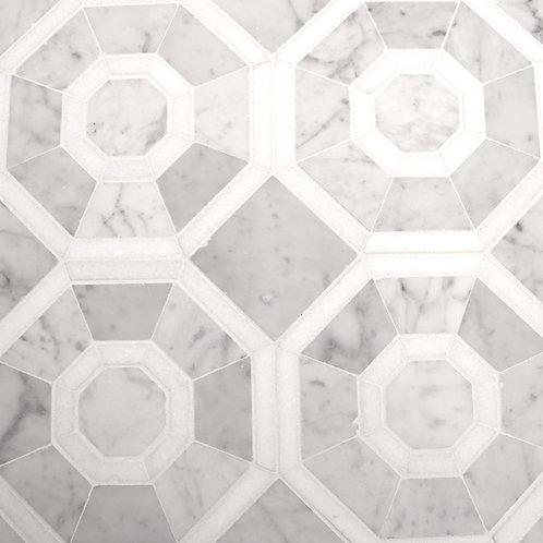 Wilshire 1: White Carrara with White Thassos