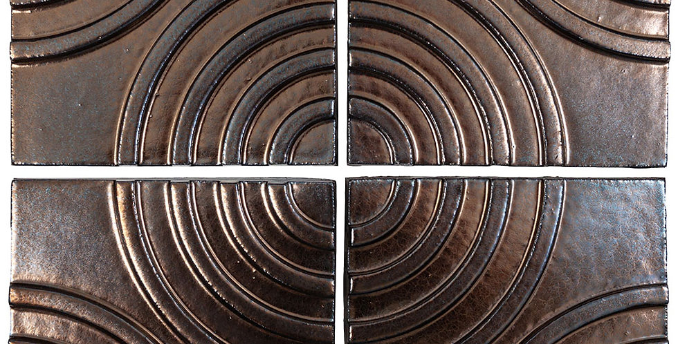 6x6 Ceramic Target Tile Bronze