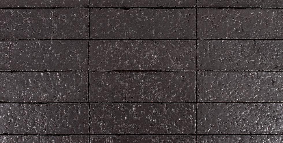 2x8 Glazed Brick Black Diamond