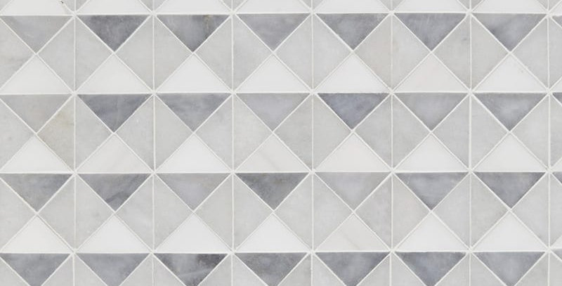 Allure Light, Snow White, Glacier Multi Finish Devon Marble Mosaics