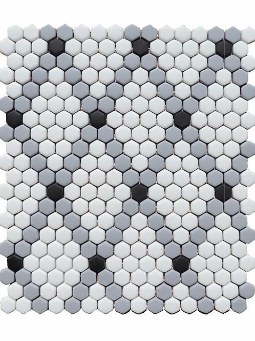 Rhombus in White, Paris Gray, Black