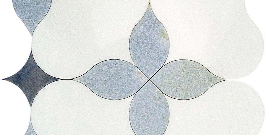 MJ Blue Blazingstar (White Thassos, Blue Celeste, Azul Macauba)