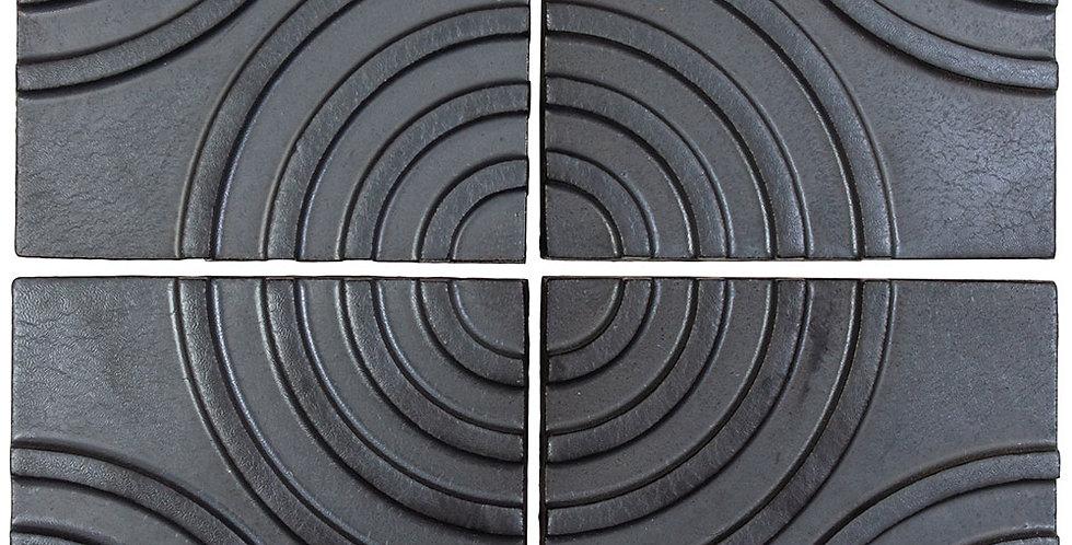 6x6 Ceramic Target Tile Graphite