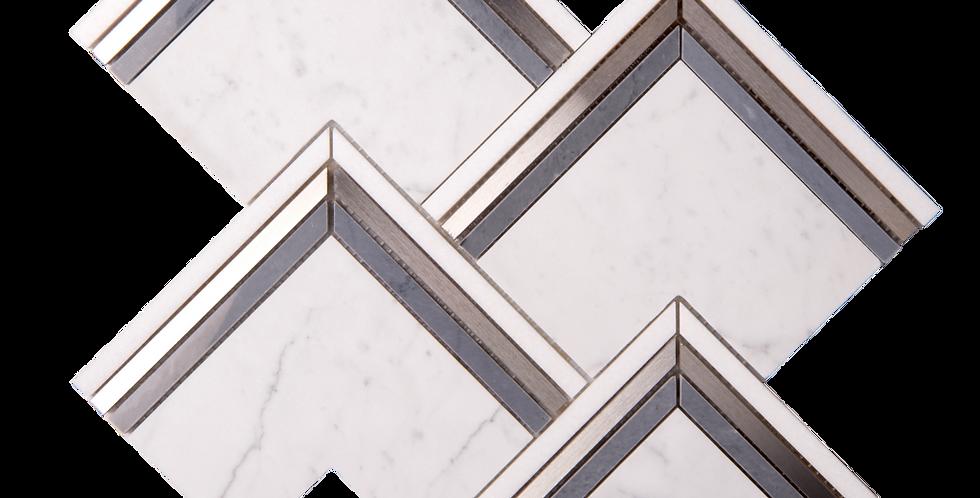Angles (Sivec White, Statuario, Matte Brass, Nero Marquina)