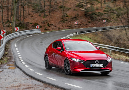 2021 Mazda3 Soul Red Crystal, Action 01.