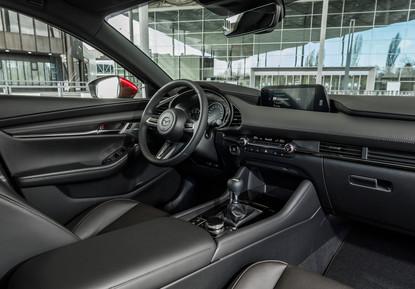 2021 Mazda3 Black Leather Interior 01.jp